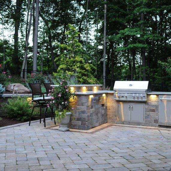 Outdoor Grill Island, Plantings, Patios, design, Scovills landscape, landscape design, landscaping, landscapes, landscape patio design